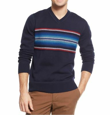 New Men/'s Tommy Hilfiger Lakes Serape V-Neck Sweater Size XL $98