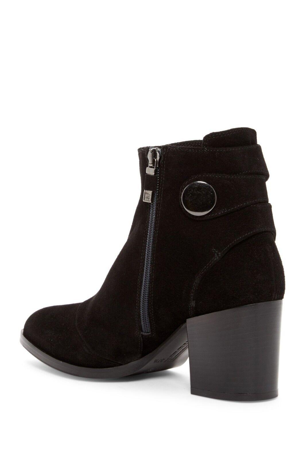 ALBERTO FERMANI Boots Tortora Black Leather Ankle Ankle Ankle Booties 40 EU 10 US  465 6cebaa
