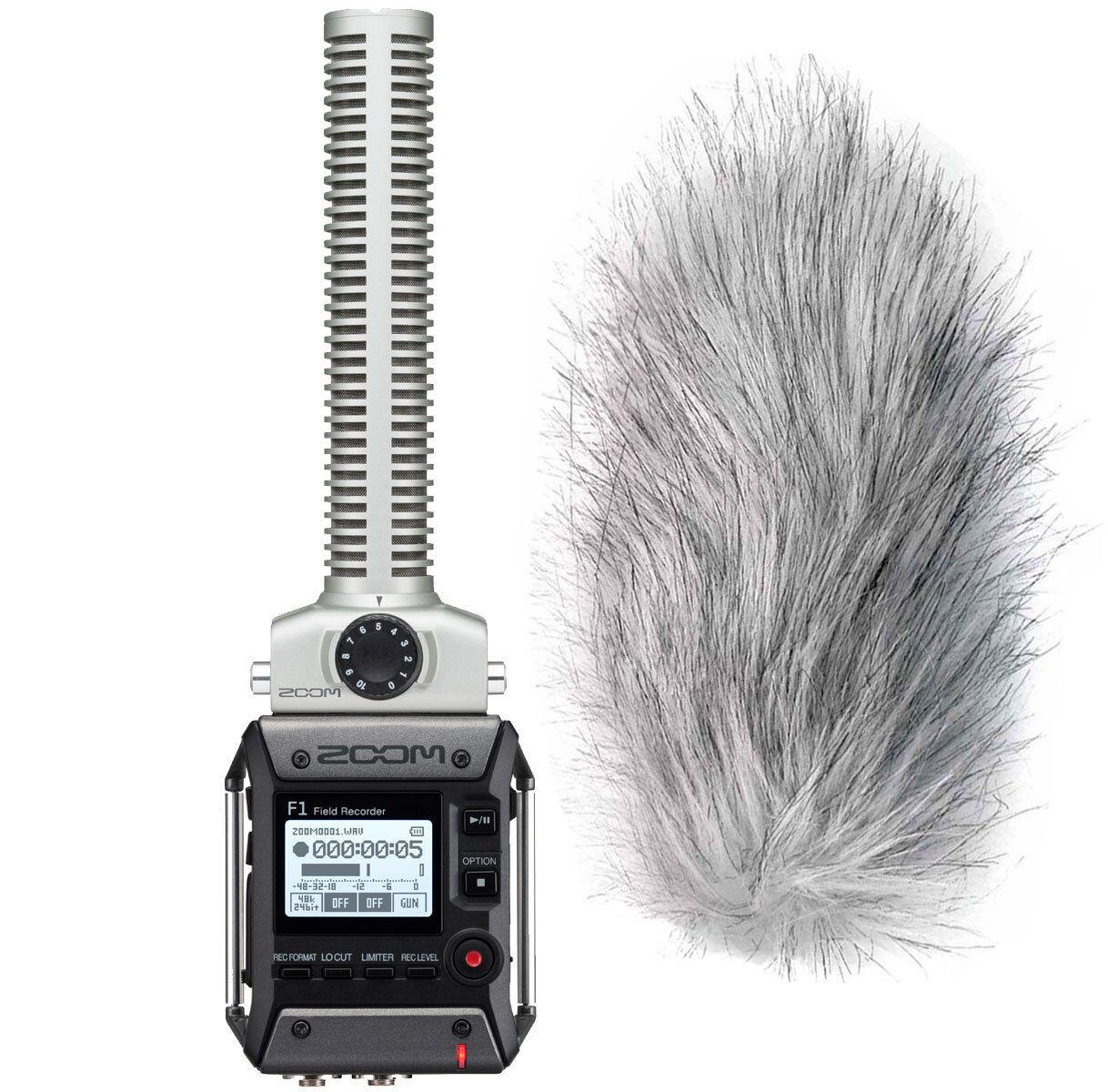 Zoom F1-SP Field Registratore con Microfono Direzionale Protezione Dal Vento