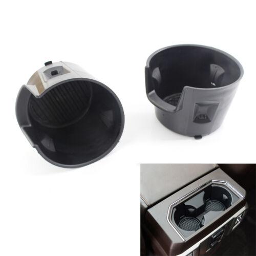 2Pcs//Set Rear Seat Bottle Cup Holder Insert Liner For Ford F-150 2015-2018 16 17