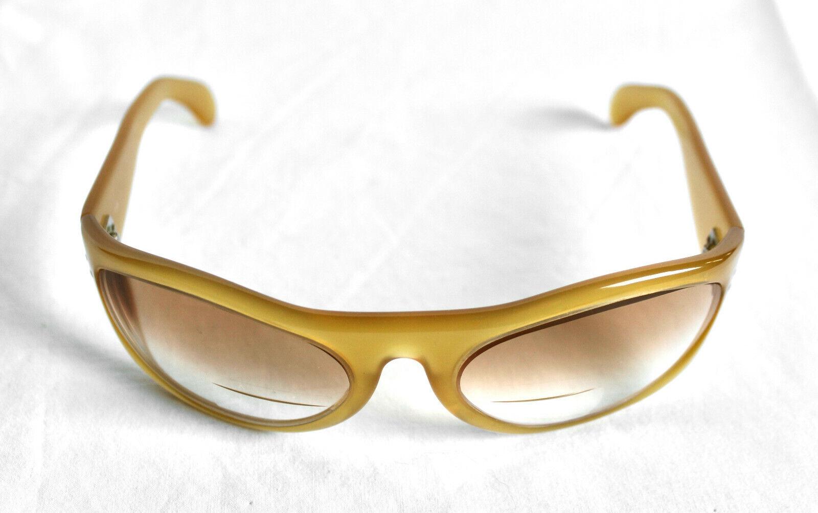 (Cutler & bruto) Vintage Marcos Ovalados miel Wrap gafas de sol (sólo)