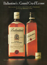 Publicité Advertising  1982  WHISKY Ballantine's
