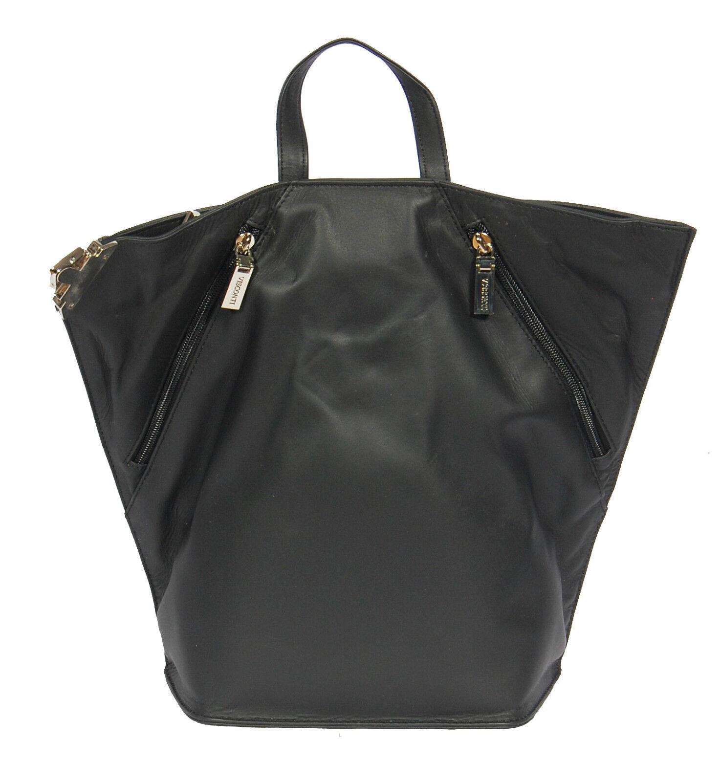 Femme de luxe en cuir sac à dos dos à noir sac à dos cyclisme sports gym organisateur sac 49ee2d