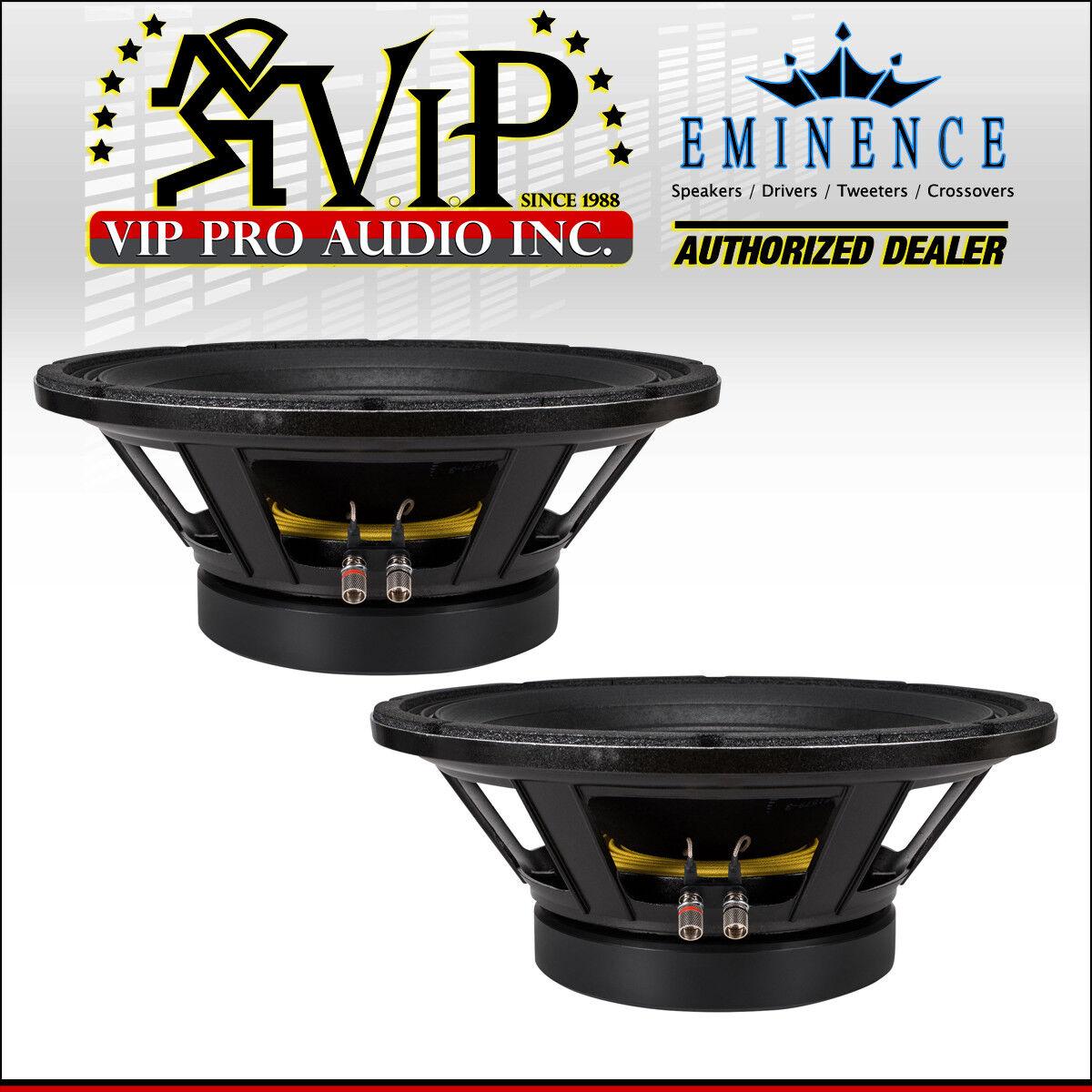 2x Eminence DEFINIMAX 4015ULF-8 15  Sub-Woofer 2400W Pro Audio Speaker 8-Ohm SUB