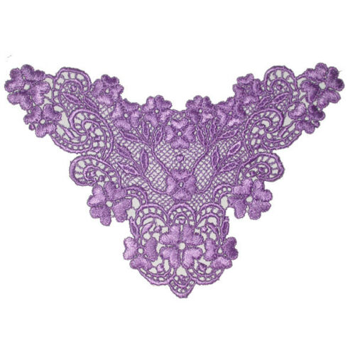 Small Venise Filigree Floral Yoke  x 3 or 10 various colours