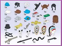 Lego 5392 Wild West Accessories Service Pack 34 Pcs Misp 1995