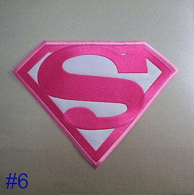 Superman / Supergirl Iron On / Sew Cloth Patch Badge Appliqué Hot Fix Superhero