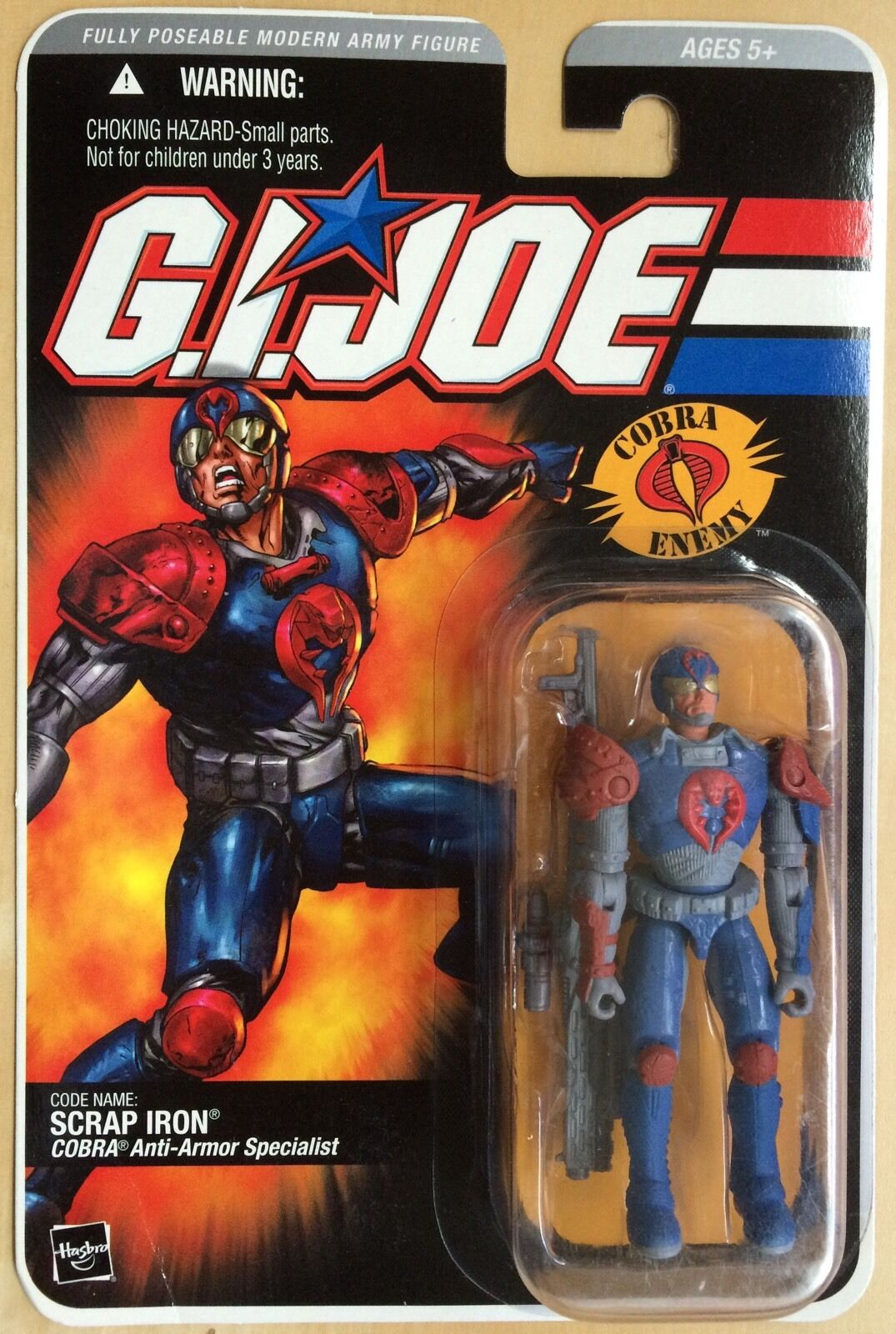 G.I. Joe DTC Direct To Consumer SCRAP IRON Cobra Enemy Action Figure MOC Rare