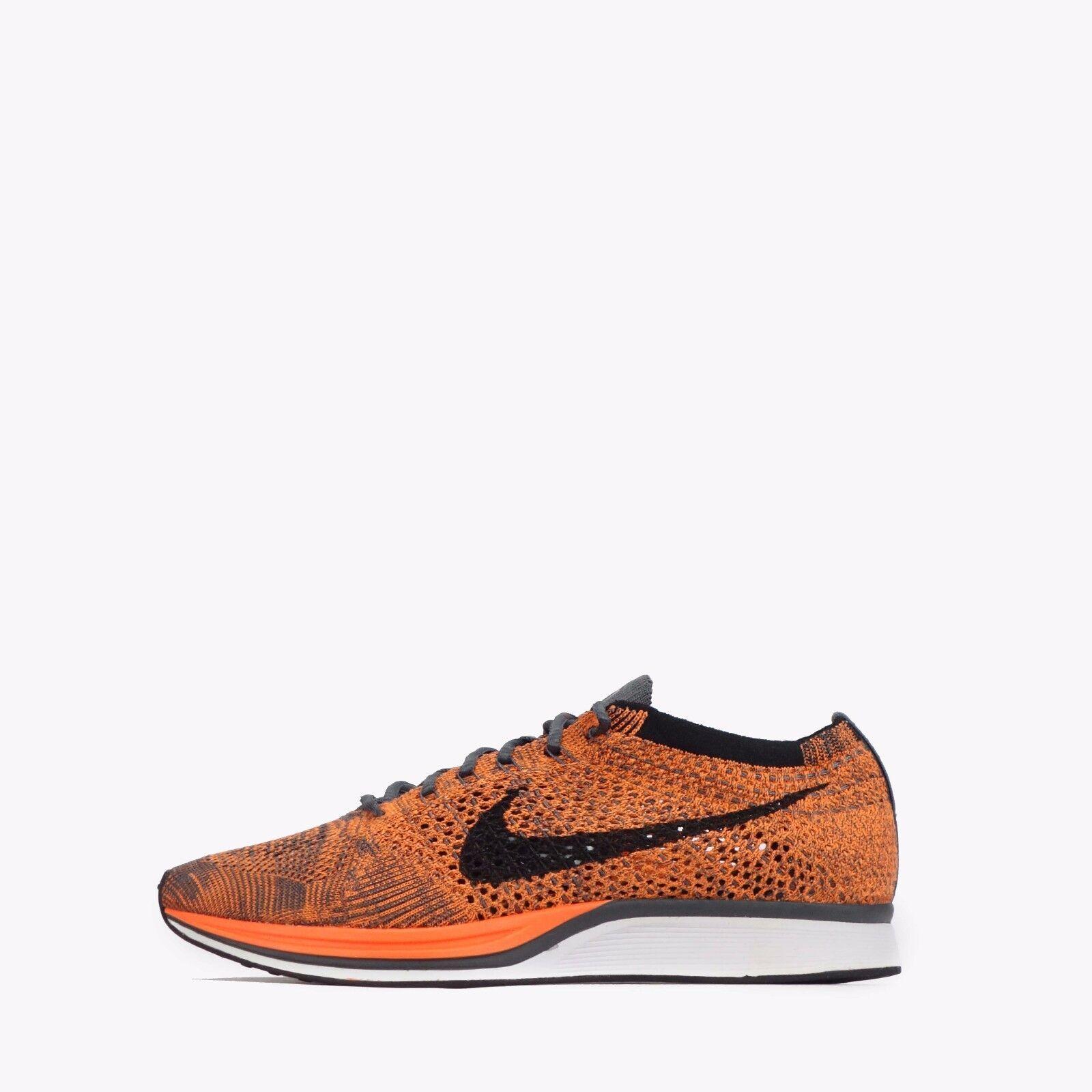 Nike Flyknit Racer Mens damen Unisex Running schuhe Total Orange Weiß