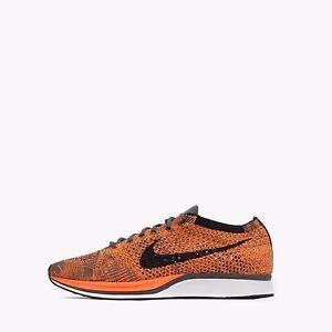 Nike Flyknit Racer Uomo/Donna Unisex Scarpe da corsa totalmente Arancione /