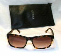 Genuine Guess Gu6756-to-34 Men's Rectangle Sunglasses Brown Lens Tortoise