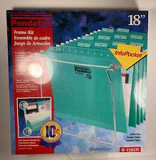 Pendaflex Frame Kit 12 Hanging Folders Metal Adjustable File Info Pocket 18