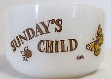 ~Vintage~Fire King~Sunday's Child~Bowl