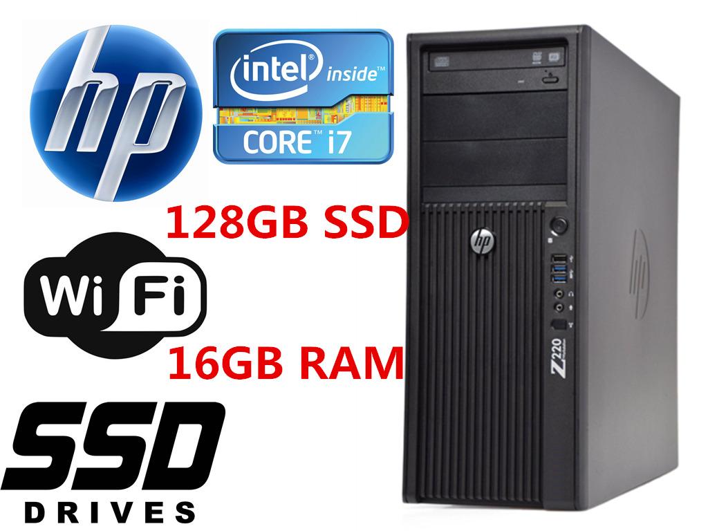 Gaming PC HP Z210 MT Desktop computer i7 16GB R5-430 256GB SSD+1TB Win10 WIFI