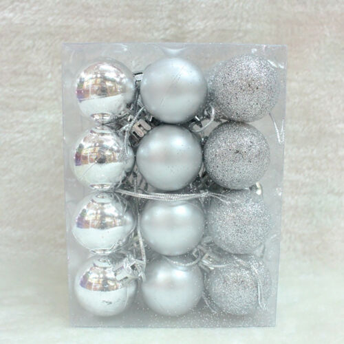 24X Christmas Ball Hanger Baubles Xmas Tree Hanging Ornament Party Decor 30mm A+