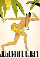 Art Josephine Baker Banana Dress Famous Dancer   Deco Poster Print
