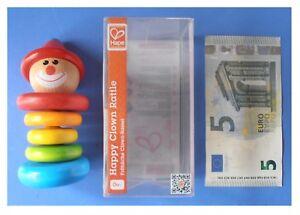 Sonaglio-in-legno-colorato-arcobaleno-Happy-Clown-Rattle-pagliaccio-marca-Hape
