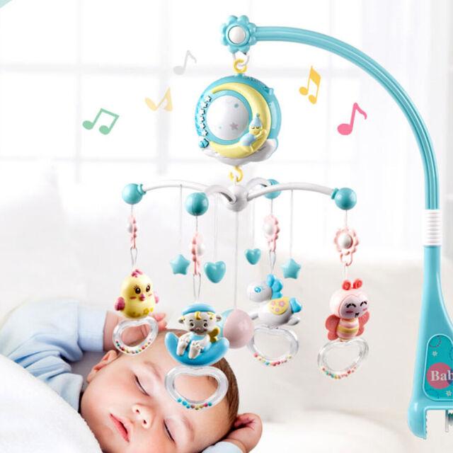 DeLuxe Mobile für Kinderbett Babybett mit Deckenprojektor Musik Naturgeräusche
