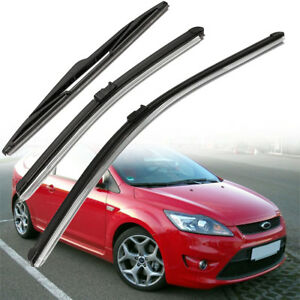 3x-Windshield-Windscreen-Wiper-Blades-Set-For-Ford-Focus-MK2-1-6-Front-amp-Rear
