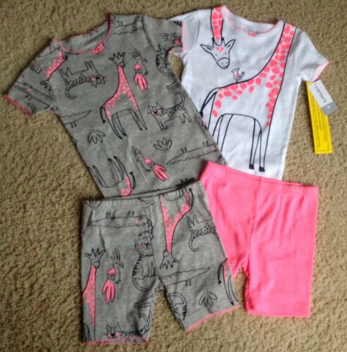 Carter/'s Girl Short Gymmies 3T 4 Pieces Giraffe MIX N MATCH New