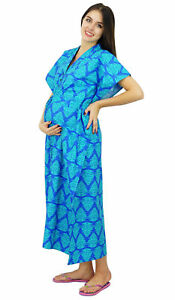 2468c7e91f112 Image is loading Bimba-Maternity-Cotton-Kaftan-Hospital-Delivery-Gown- Nursing-