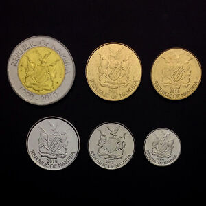 N-1-Namibia-Set-6-Coins-5-10-50-Cents-1-5-10-Dollars-UNC