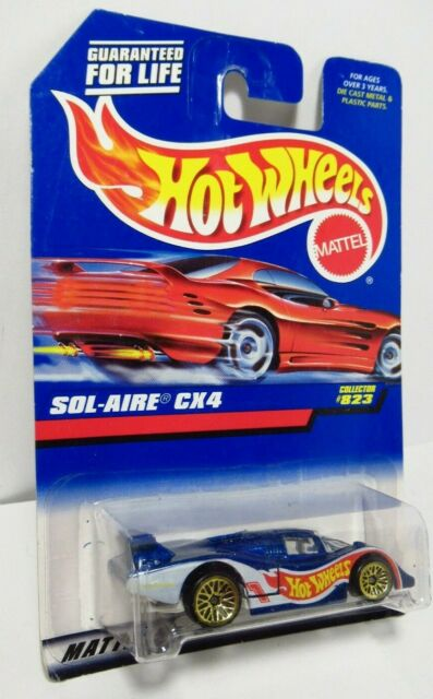 Hot Wheels Racing Team 1998 Sol-Aire CX4 Blue Gold Lace Wheels Larry Wood #823
