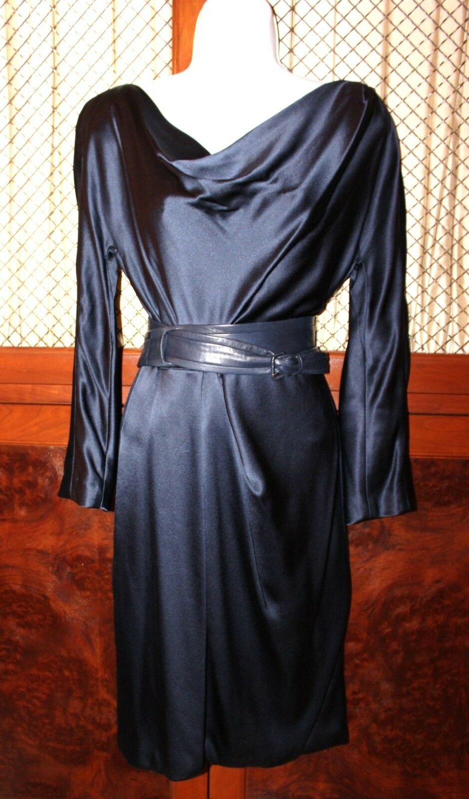 J. MENDEL Navy Navy Navy bluee Silk dress size 6 c7921c
