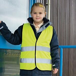 RW-Result-Core-Children-kid-junior-High-Vis-safety-Fluorescent-Yellow-vest-R200J