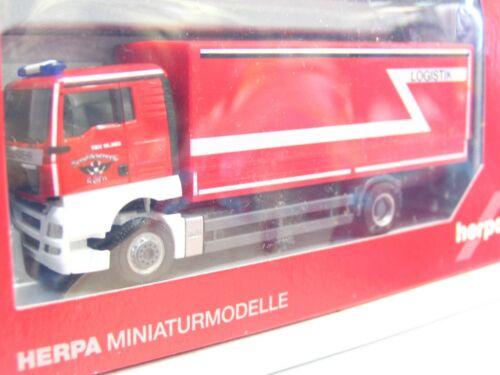 KV2369 Herpa 1//87 048279 MAN TGX XL Planen-LKW Berufsfeuerwehr Köln OVP