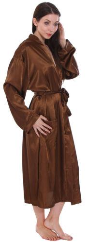 Women/'s Home Bathroom Silk-Like Robe Ladies Nightgown Sleepweawr