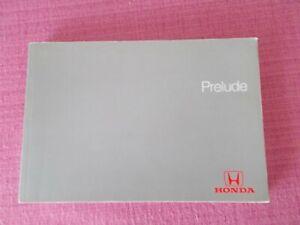 (gen 5) Honda Prelude (1997 - 2000) Owners Manual-manuel. (acq 7261)-afficher Le Titre D'origine Doux Et Doux