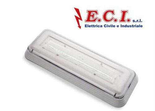 PERRY 1LED200L0  LAMPADA PLAFONIERA EMERGENZA ELIOS IP42 1H 200 Lm 18W