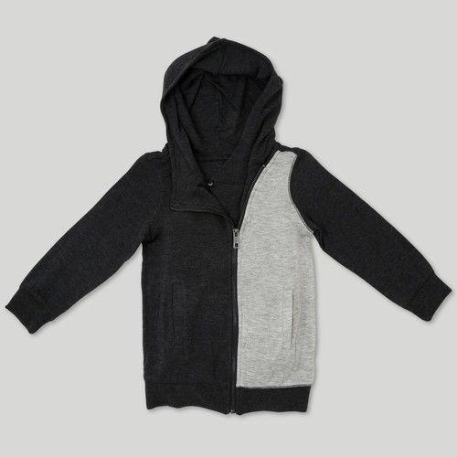 NEW Afton Street Boy/'s Toddler Sweatshirt Jacket Charcoal Heather 12M Size