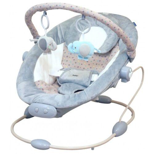 Babywippe Babyschaukel Babywiege mit Musik Vibration verstellbar Spielbogen Neu