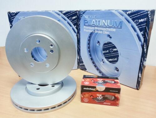 FOR ALFA 159 2.4 JTD JTDM FRONT MEYLE GERMANY PLATINUM DISCS MINTEX BRAKE PADS