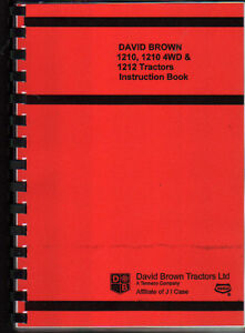 details about david brown 1210, 1210 4wd & 1212 tractor instruction manual book david brown tractor logo david brown tractor 1210 wiring diagram #5