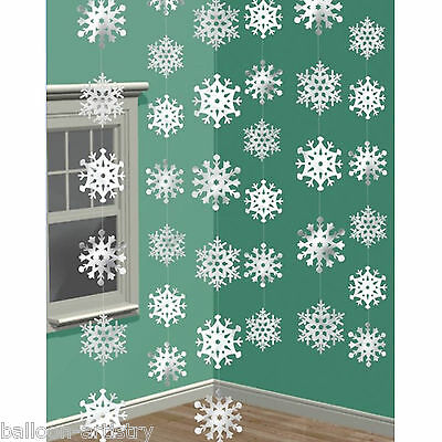 7ft Shimmer Snowflake Strings Christmas Decorations Disney Frozen Party Supplies