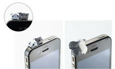 6pcs Cute Mini Cat 3.5mm Anti Dust Earphone Jack Plug Stopper Cap For iphone HTC