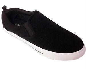 867df60f97e7 Details about Men canvas slip on Lace tennis Laofer Sneaker School shoes  New Va
