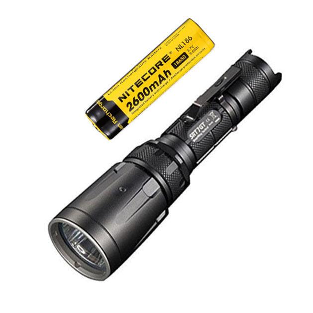 Combo  Nitecore SRT7GT Flashlight  w NL186 2600mAh Rechargeable 18650 Battery