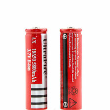 2Pcs  5800mAh 3.7V Rechargeable 18650 Battery Li-ion  laser Pen Flashlight