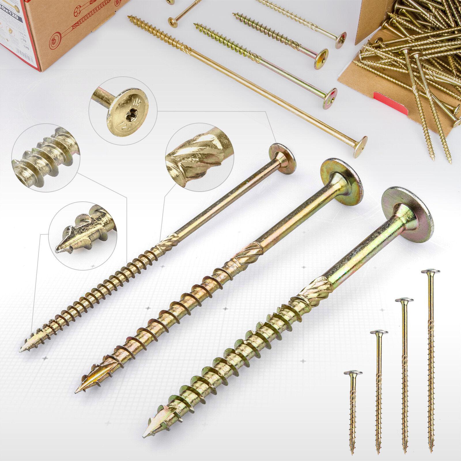 6 8 10mm Tellerkopfschrauben Senkkopf Holzbauschrauben Holz Schrauben 50 - 340mm