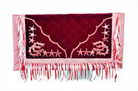 Western Cherry Barrel Racing Show Rodeo Saddle Pad : Cherry