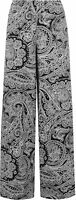 New Plus Womens Paisley Print Long Wide Leg Flared Palazzo Pants Ladies Trousers
