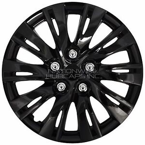 16 set of 4 black wheel covers snap on full hub caps fit r16 tire 1937 Ford Humpback image is loading 16 034 set of 4 black wheel covers