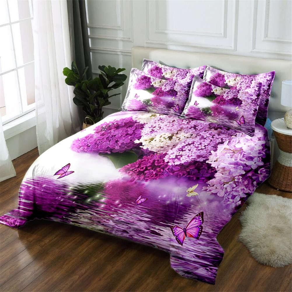 Photinia Serrulata 3D Printing Duvet Quilt Doona Covers Pillow Case Bedding Sets