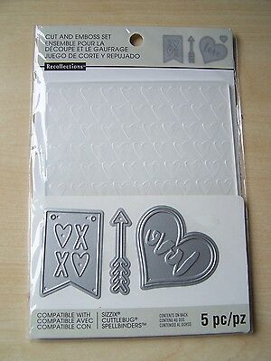 RECOLLECTIONS CUT AND EMBOSS LOVE DIE SET/&EMBOSSING FOLDER