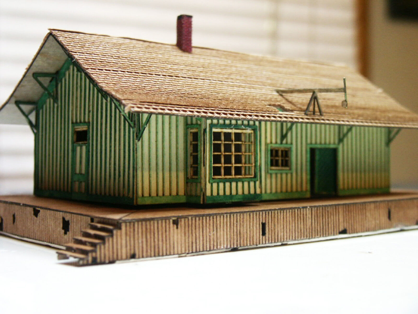 CHELTENHAM STATION N Scale Model Railroad Structure Unptd Wood Laser Kit RSL3024