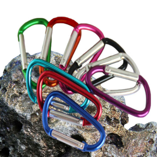 Aluminum Snap Hook Carabiner D-Ring Key Chain Clip Keychain Hiking Camp